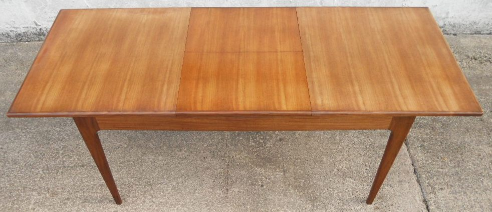 1960 S Retro Teak Extending Dining Table To Seat Eight Sold